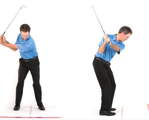 golf swing L to L drill
