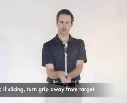 grip adjustments for straight shots