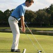golf swing plane dowel drill