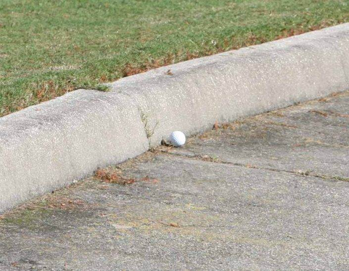 golf rules cart path and free drops