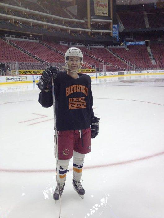 Biddeford Hockey on NHL ice in Phoenix Arizona