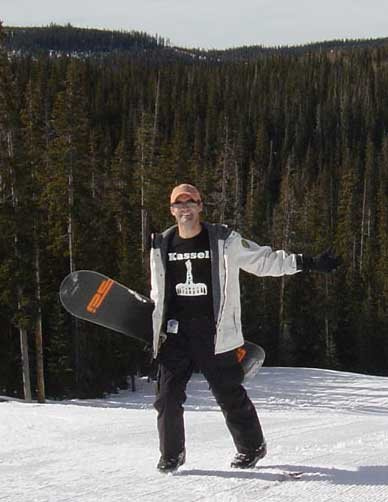 Casey snowboarding in Flagstaff Arizona