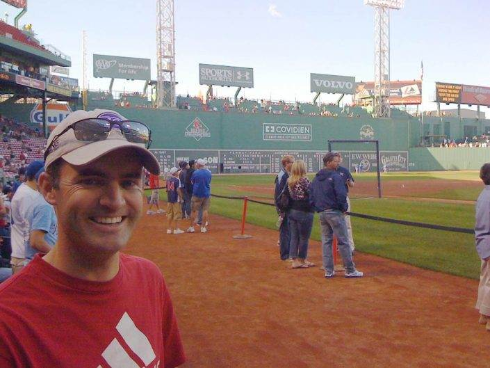 Casey at Fenway Park in Boston
