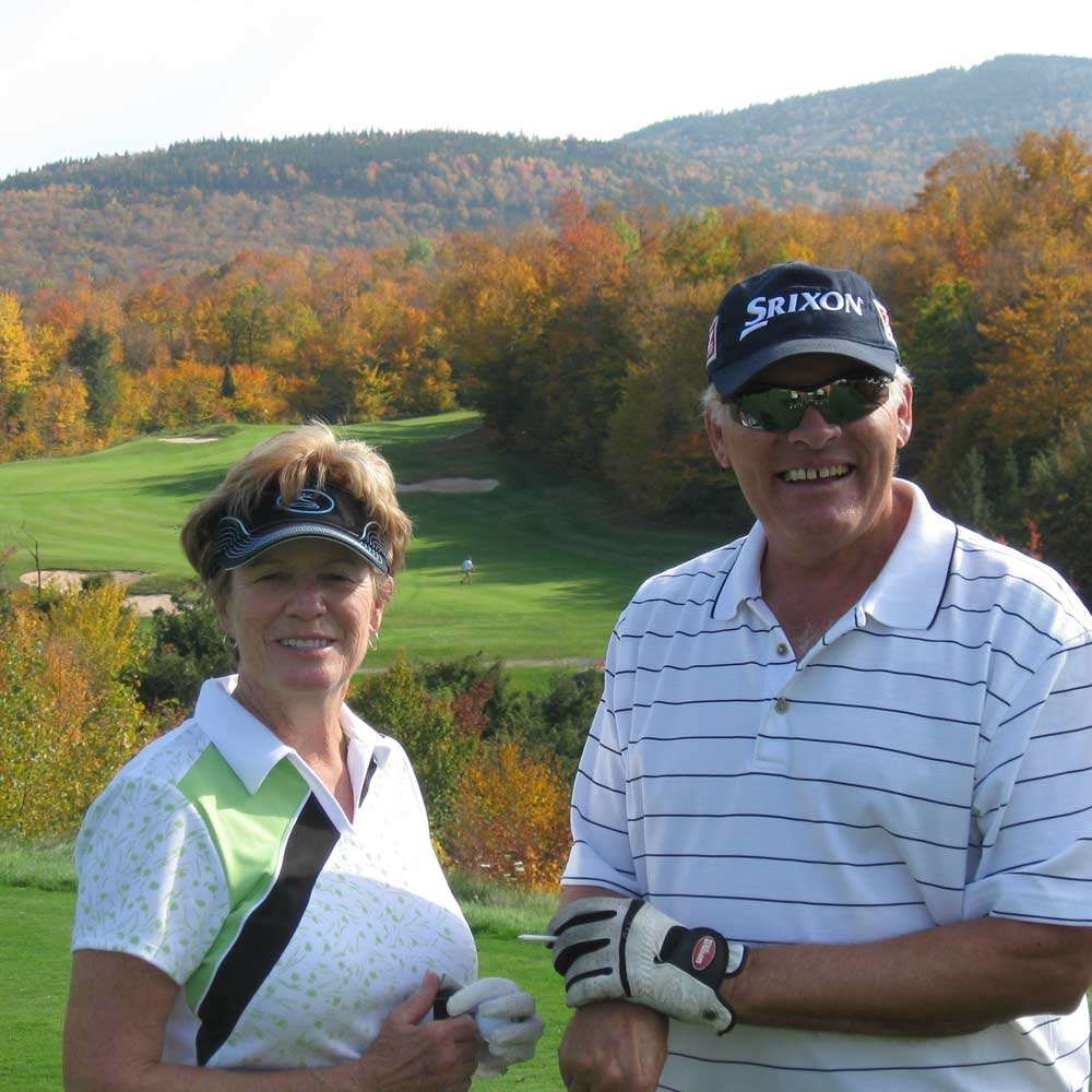 Casey's parents playing golf in Maine