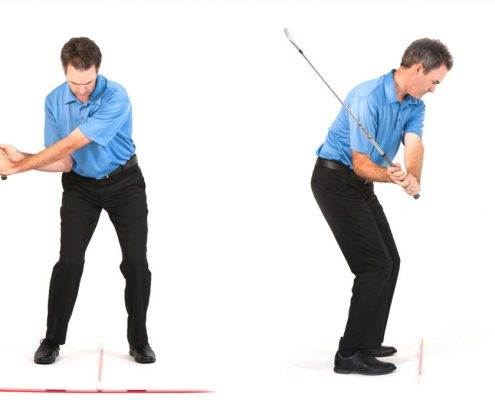 slow motion golf swing