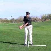 pitch shot setup and swing