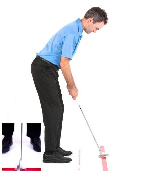 golf putting routine and alignment