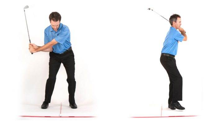 golf swing walk through drill