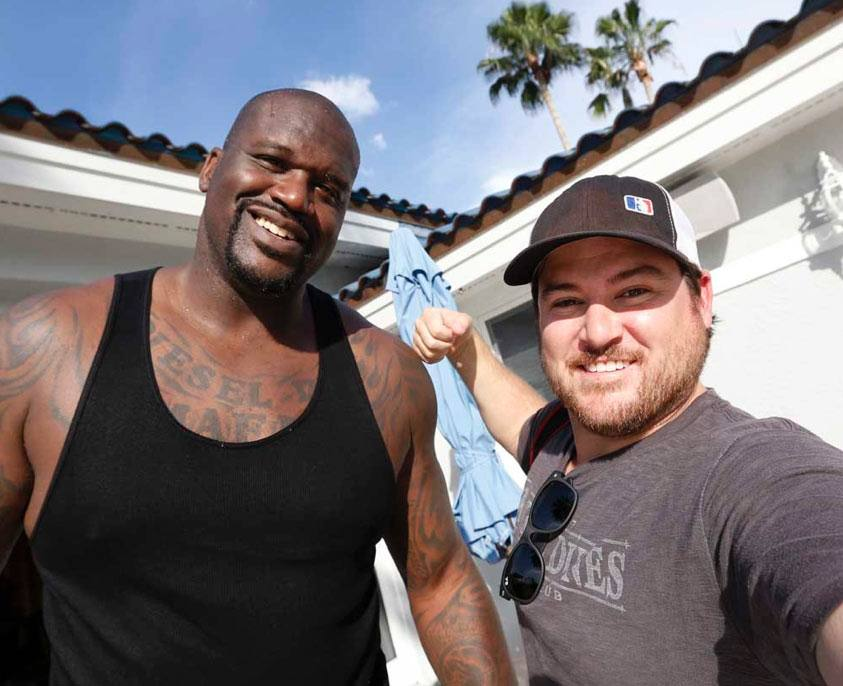 cy cyr with shaquille o'neil